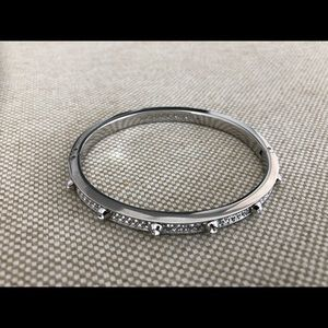 Michael Kors silver pave hinge bracelet.